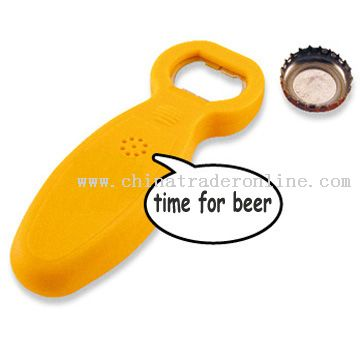 talking bottle opener