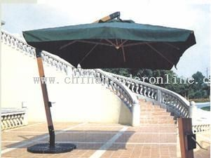 2x3m Wooden Hanging Umbrella