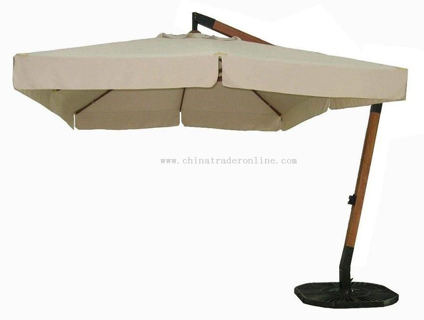 3x4m Deluxe Wooden Hanging Umbrella