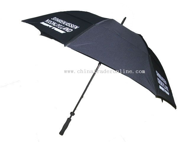 Promotional Wind Proof 2 Layers Golf Umbrella