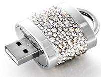 Diamond lock shape usb flash drives
