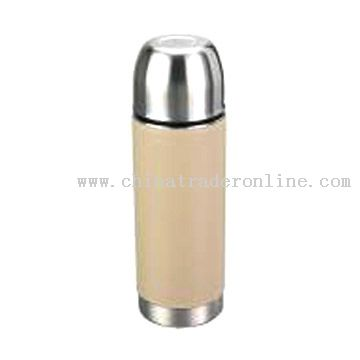 500ml Stainless Steel Vacuum Flask with PU Leather Wrapped