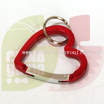 Aluminium Carabiner in heart shapes