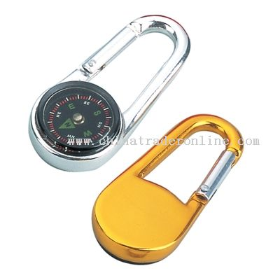 Carabiner And Hook with compass