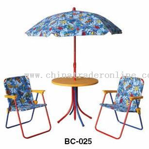 Chair & table & Umbrella
