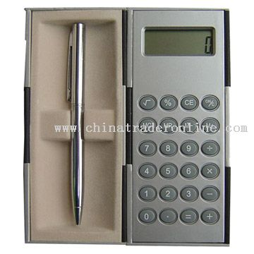 Big Magic Box Calculator with Metal Pen