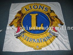 customized lion advertising flag