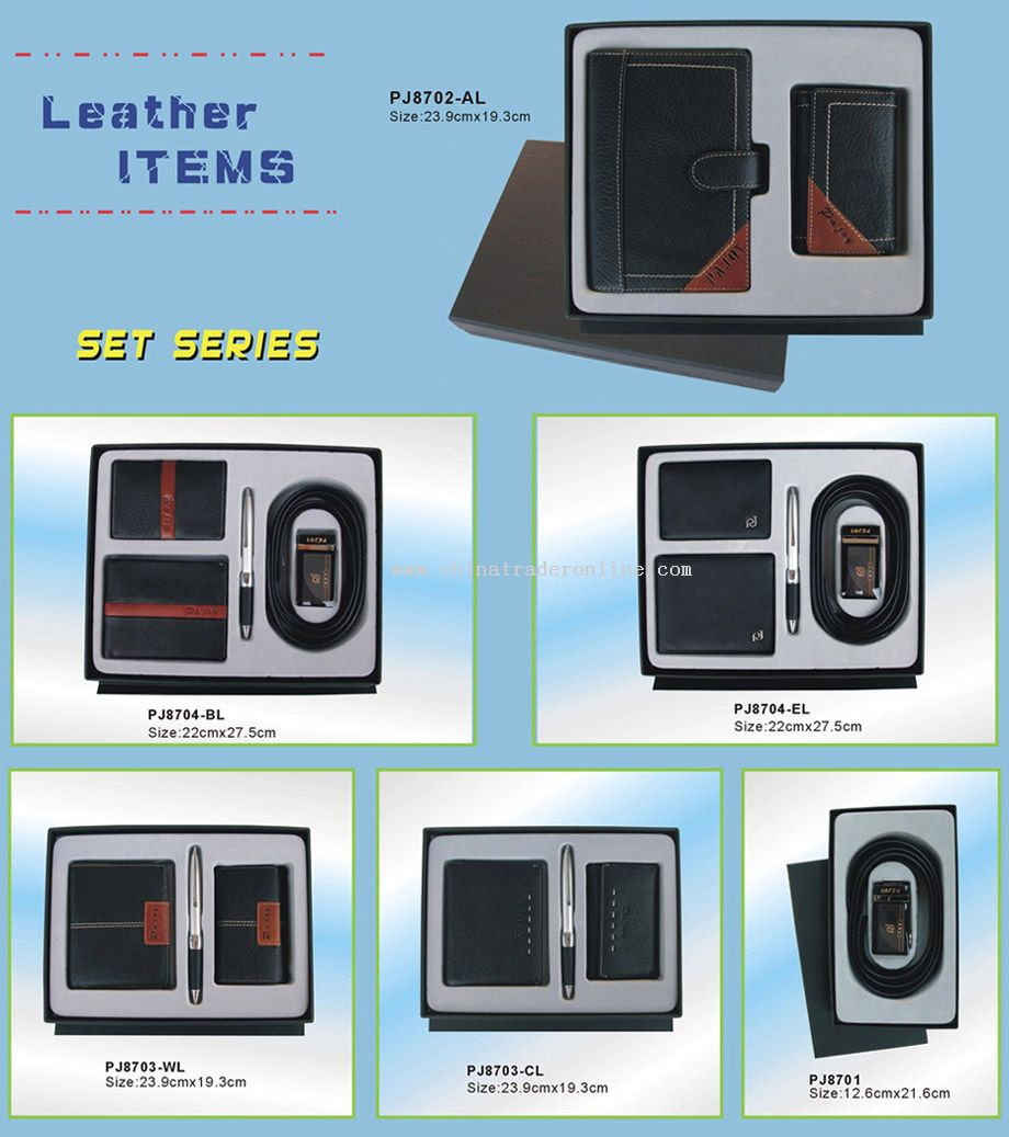 genuine leather gift set