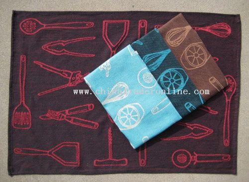 100% cotton jacquard kitchen towel