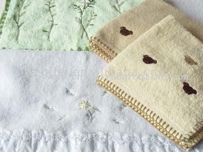 Embroidered Cotton Face Towel