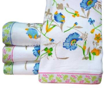 Printed Towel with Wide Border from China
