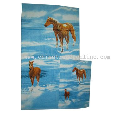 reactive printed towel from China