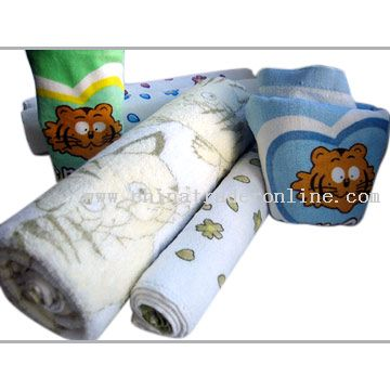 Reactive Printed Towel for Kids