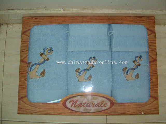 A-One Embroidery Towel 5 pcs Set