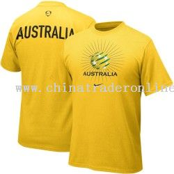 Promotional australia gold 2009 world cup soccer euro t for Design t shirts online australia