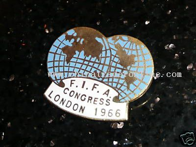Pin badge FIFA Congress 1966 London Football World Cup