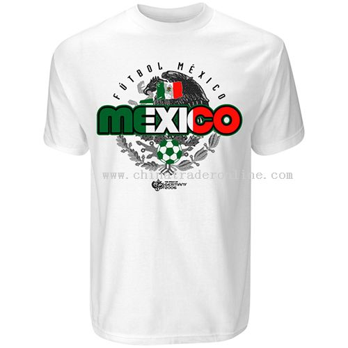 Russell Athletic Mexico World Cup 2006 Flag T-Shirt