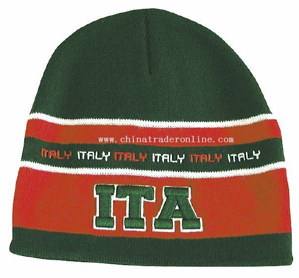 World Cup Country Beanie Skull Cap.