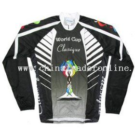World Cup Cycling Black Long Sleeve Bicycle Jersey