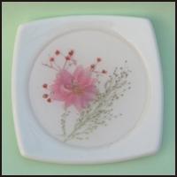 Ceramic coaster with color design