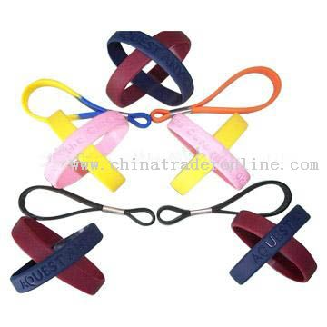 double silicone bracelet