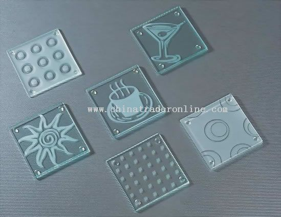 glass coaster from China