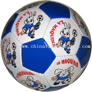 Handsewn Cartoon Football Rabbit from China