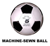 Machine-Sewn Football
