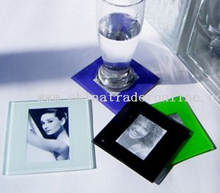 photo frame glass coaster