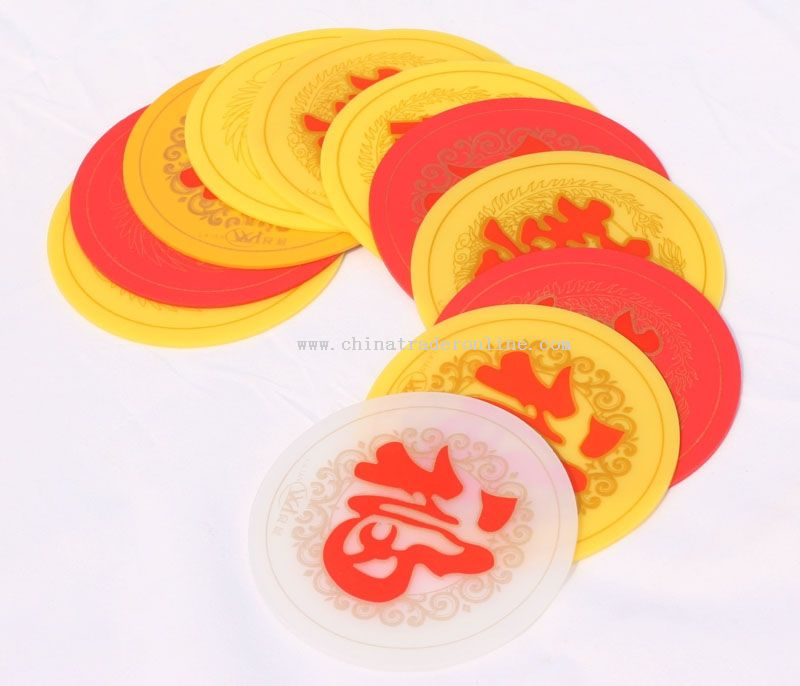 Rubber cup coaster set