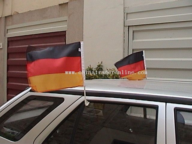 World cup car flags for Germany and holland