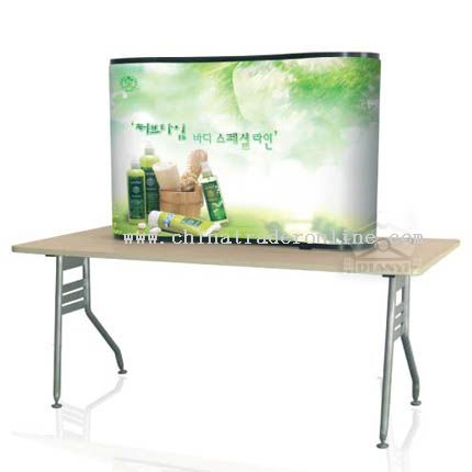 1-1 Curve Desktop Pop Up with PVC panel