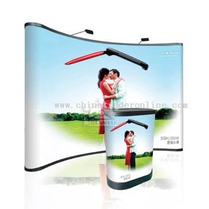 3-4 pop up display with PVC panel