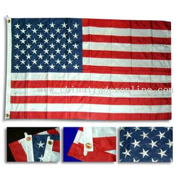 Embroidered piece-together American flag