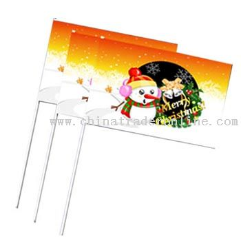 Seasonal Hand Held Flag