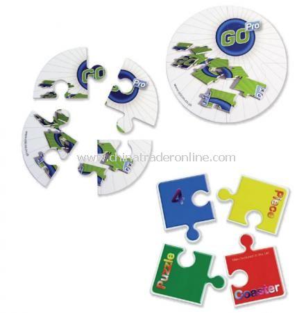 4 piece 3mm Puzzle Coasters