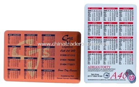 Aluminium Calendar Coaster