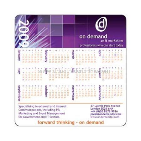 Melamine Calendar Coaster