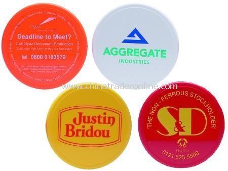 Solid Colour Plastic Round or Square Coasters