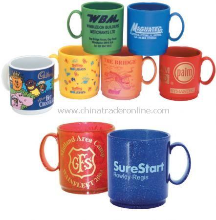 Glitter thermoplastic mug