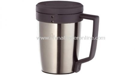 MARKSMAN STAINLESS STEEL COFFEE MUG  0.3 Ltr coffee mug with plastic handle