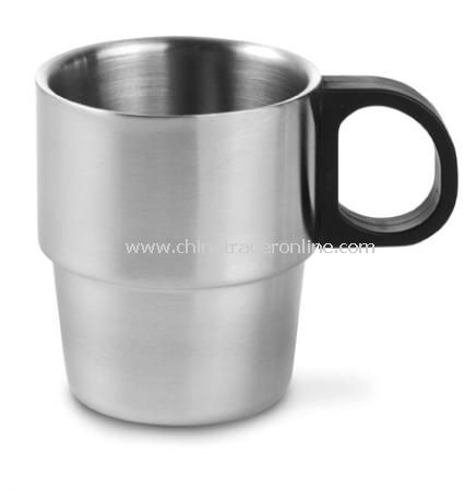 Mug (0.20 litre), double-walled, with black handle (D)