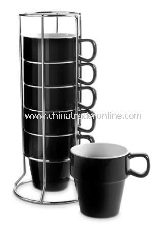 Set of mugs in a rack (0.25 litre), 7pc