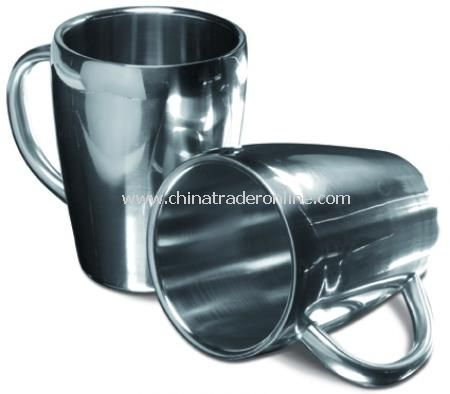 Set of two steel mugs (0.20 litre capacity)