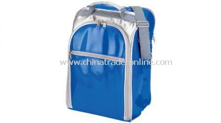 TRENDY PICNIC BAG With cutlery, wine glasses and cooler compartment
