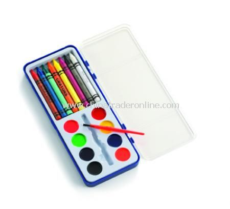 Crayons and paint set (D)
