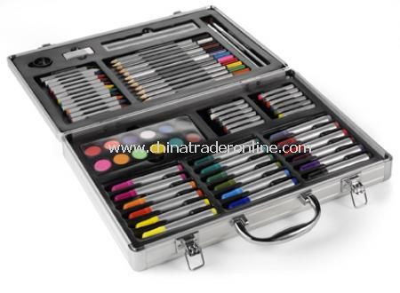 Design art set in aluminium case, 60pc (D)