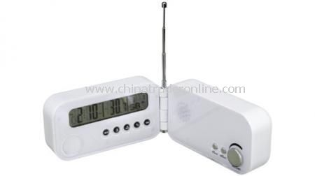 FOLDABLE CLOCK RADIO Foldathermometer.ble alarm clock with snooze function, scan radio and