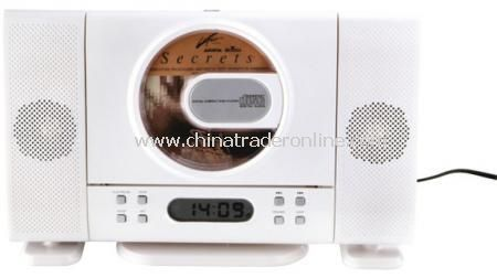 CD / RADIO WITH DETACHABLE SPEAKER Radio/CD player with repeat and program functions, date,