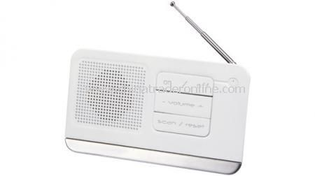 MARKSMAN POLAR DESK TUNING RADIO FM scan radio with back stand, power indicator and electro